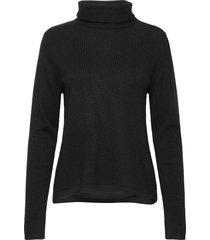 fold neck sweater turtleneck coltrui zwart davida cashmere