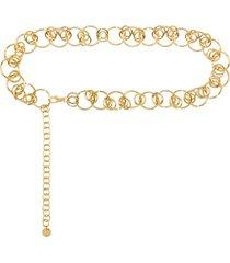 black & brown hera chain link belt - gold
