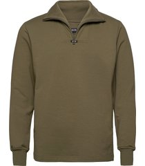 aatos sweatshirt knitwear half zip jumpers groen r-collection