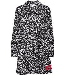 animal print diner dress korte jurk multi/patroon calvin klein jeans