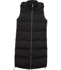 matt & nat sana vegan puffer vest, black