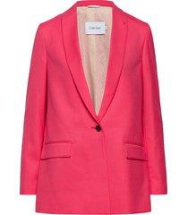 coloured suit long b blazer colbert roze calvin klein