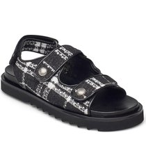 sandals 2758 shoes summer shoes flat sandals svart billi bi