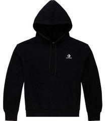 embroidered star chevron hoodie