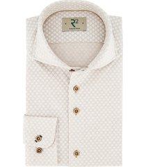 r2 amsterdam overhemd beige dessin