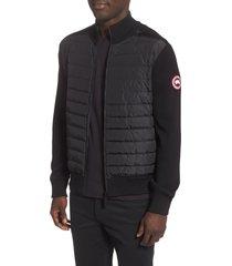men's canada goose hybridge 675 fill power down jacket, size small - black