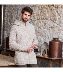 the slemish aran hoodie beige m