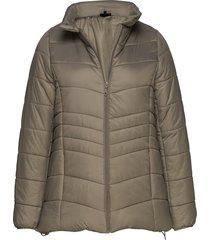 camaggie, l/s, jacket fodrad jacka grön zizzi
