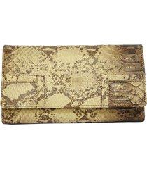 carteira tonin em couro 20055p dourado