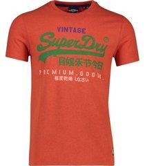 oranje t-shirt heren superdry