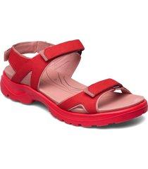 offroad shoes summer shoes flat sandals röd ecco