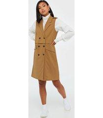 selected femme slfsill sl long vest ex loose fit dresses