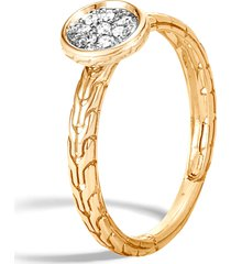 women's john hardy dot diamond pave ring