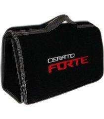 maletín kit de carretera hybrid cerato forte bordado gris plata x rojo