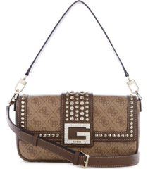 guess logo bling shoulder bag