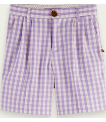 scotch & soda longer length check shorts