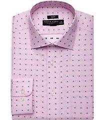 pronto uomo berry dot slim fit dress shirt