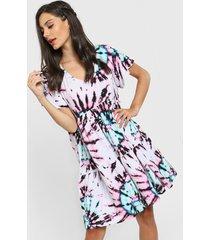 vestido azul corte a roma batick