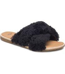w joni shoes summer shoes flat sandals svart ugg