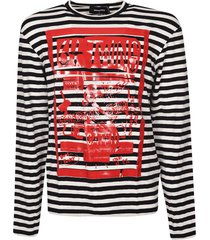 dsquared2 64 twins striped sweatshirt