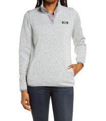 women's l.l.bean sweater fleece pullover, size small - grey