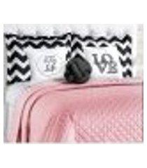cobre leito rosê isabela 8 peças casal padrão com almofadas decorativas e nó escandinavo
