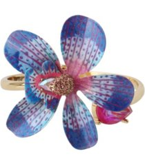 betsey johnson orchid bangle bracelet