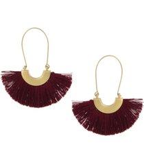 the sak thread hoop earrings