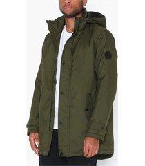 only & sons onsfavour walther parka jacket otw jackor mörk grön