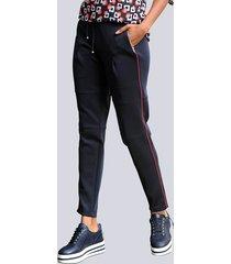 broek alba moda blauw::rood