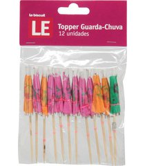 topper le guarda chuva color 10cm com 12 unidades