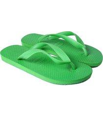 sandalias planas color verde, talla 35