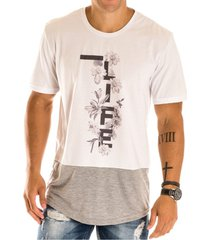 camiseta masculina life estampa frontal - area verde