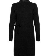 bernice knit dress knälång klänning svart minus