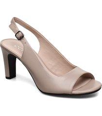 elevate 75 sleek sandal shoes heels pumps sling backs beige ecco