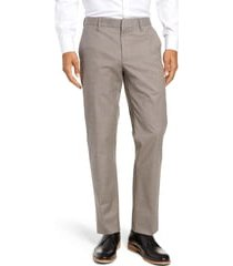 men's bonobos stretch weekday warrior slim fit dress pants, size 28 x 30 - beige