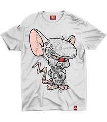 camiseta anime cérebro - unissex
