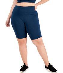 ideology plus size sweat set bike shorts, created for macy's