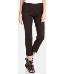 women's karen kane stretch woven capri pants, size 12 - black