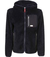 fay fur applique hooded jacket
