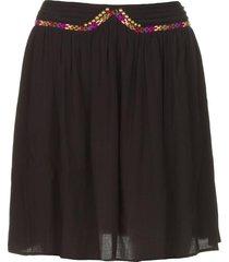rok met gekleurde naden beatnic  zwart