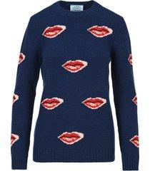 prada lip intarsia sweater