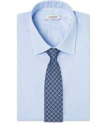 cravatta su misura, lanieri, twill microdesign blu, quattro stagioni | lanieri