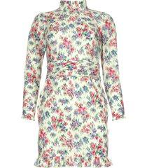 jurk met bloemenprint shelly  lichtgroen