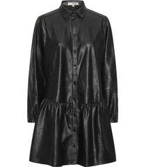iris pu shirt dress av1509