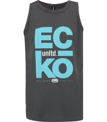 camiseta regata ecko estampada e736a - masculina - cinza escuro