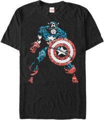 marvel men's comic collection distressed captain america short sleeve t-shirt