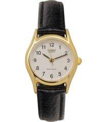 reloj casio ltp_1094q_7b1r negro cuero