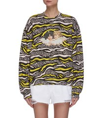 vintage angels wildlife print sweatshirt