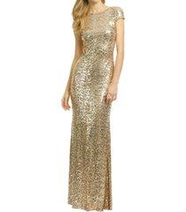 dislax sequins bridesmaid dresses long prom evening gowns gold us 18plus